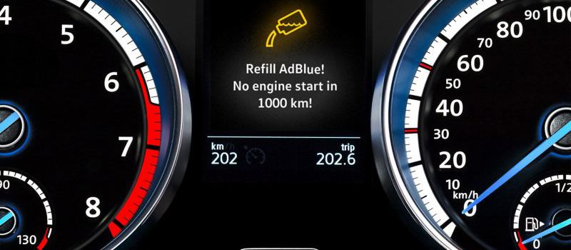 AdBlue® indicator light on: what to do?